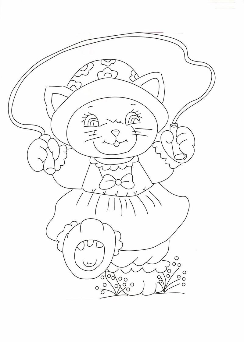Gatti disegni per bambini da colorare for Stampa disegni da colorare