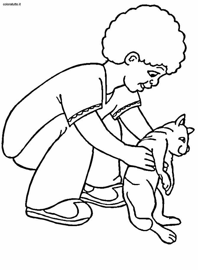 Gatti 4 disegni per bambini da colorare - Coloriage enfant garcon ...