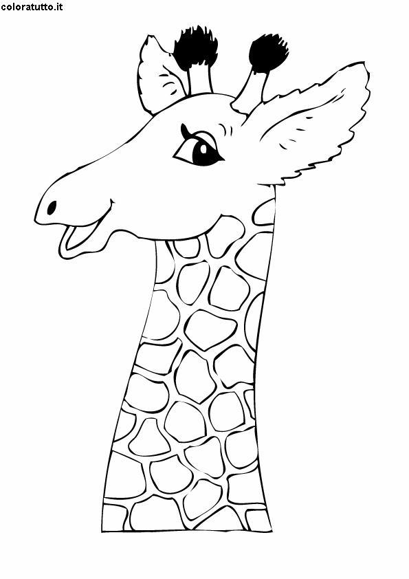 giraffa 2  disegni per bambini da colorare