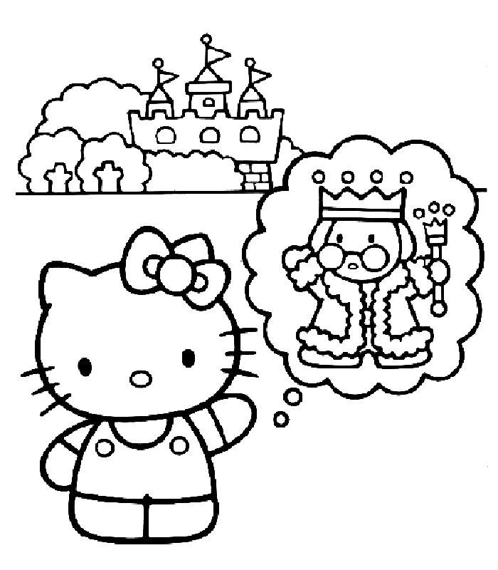 DISEGNI HELLO KITTY 3, Disegni Per Bambini Da Stampare E