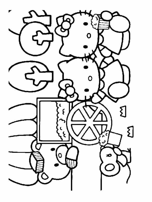 Hello kitty 8 disegni per bambini da colorare for Disegni da colorare hello kitty