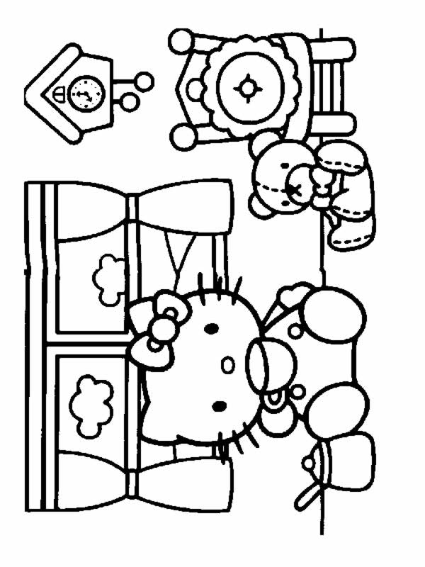 Hello Kitty 8 Disegni Per Bambini Da Colorare