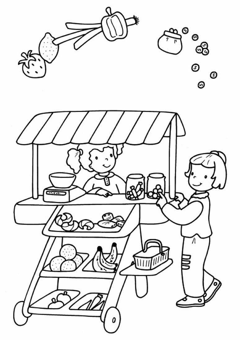 I mestieri 5 disegni per bambini da colorare for Foto per bambini da colorare