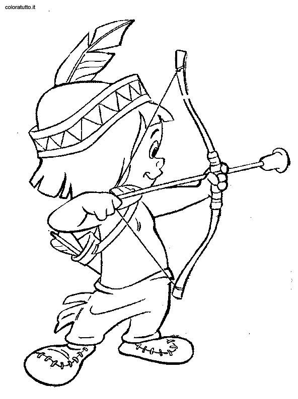 Indiani 51 disegni per bambini da colorare - Elfo immagini da stampare gratuitamente ...