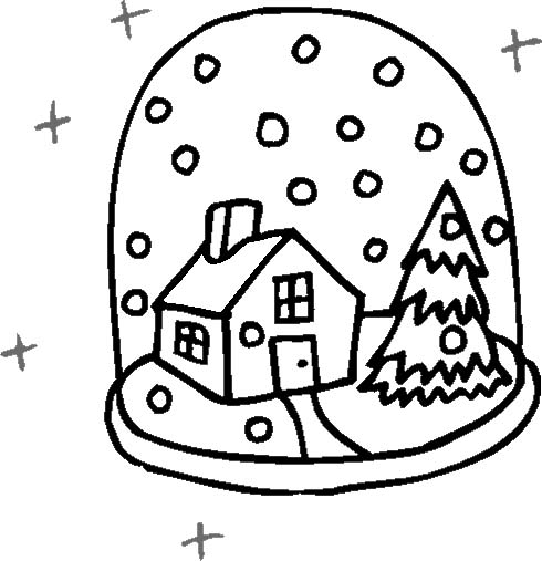 Inverno 17 disegni per bambini da colorare for Disegni paesaggio invernale