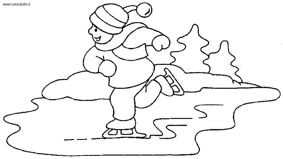Inverno 4 disegni per bambini da colorare for Paesaggio invernale disegno