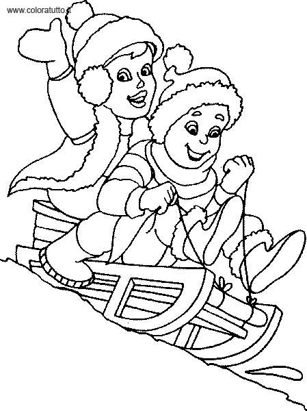 inverno 9 disegni per bambini da colorare