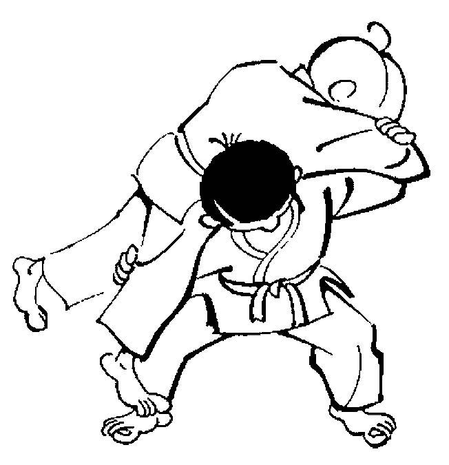 Judo disegni per bambini da colorare - Immagini sportive da stampare ...