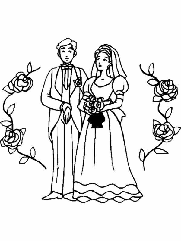 Matrimonio 9 disegni per bambini da colorare for Disegni matrimonio