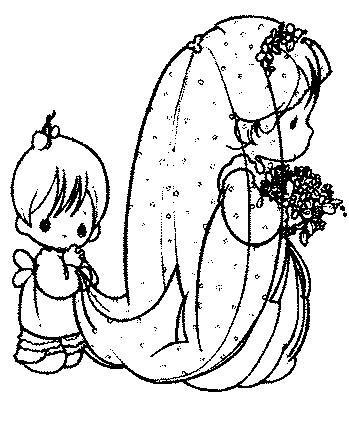 Matrimonio 2 disegni per bambini da colorare for Disegni sposi stilizzati