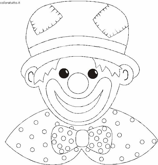 Pagliacci 2 disegni per bambini da colorare for Disegni da colorare dei pagliacci