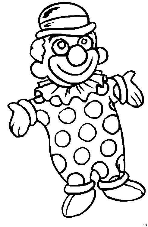 Pagliacci 20 disegni per bambini da colorare for Disegni da colorare dei pagliacci