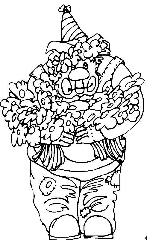 Pagliacci 21 disegni per bambini da colorare for Disegno pagliaccio da colorare