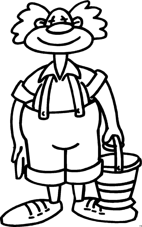 Pagliacci 29 disegni per bambini da colorare for Disegno pagliaccio da colorare