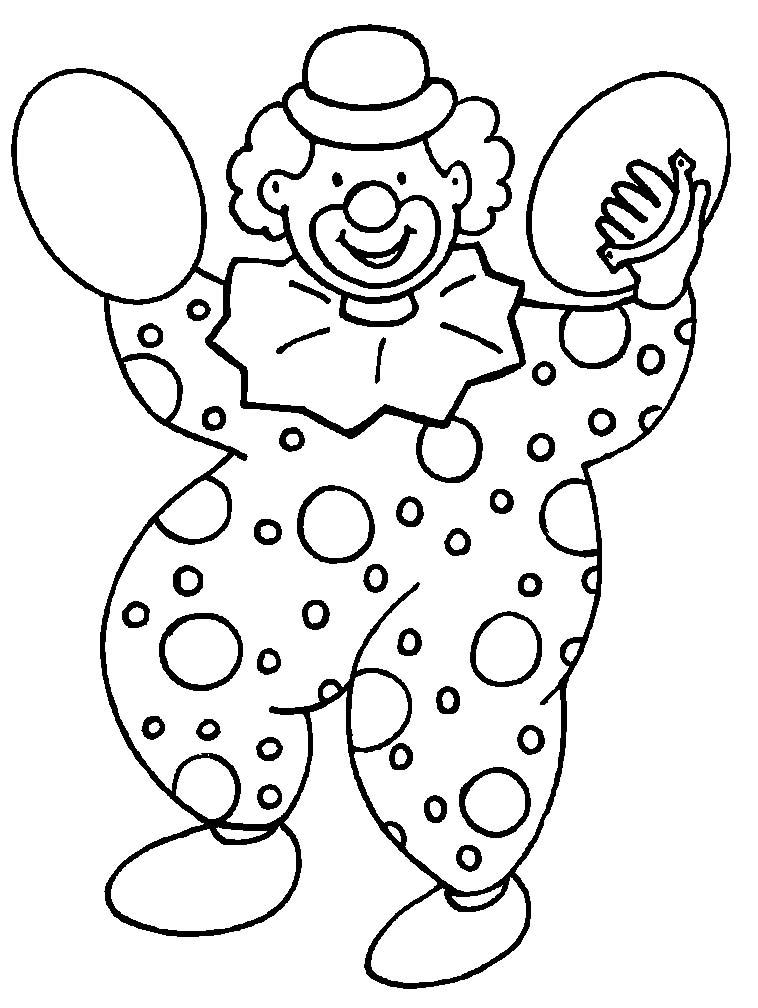 Pagliacci 3 disegni per bambini da colorare for Disegno pagliaccio da colorare