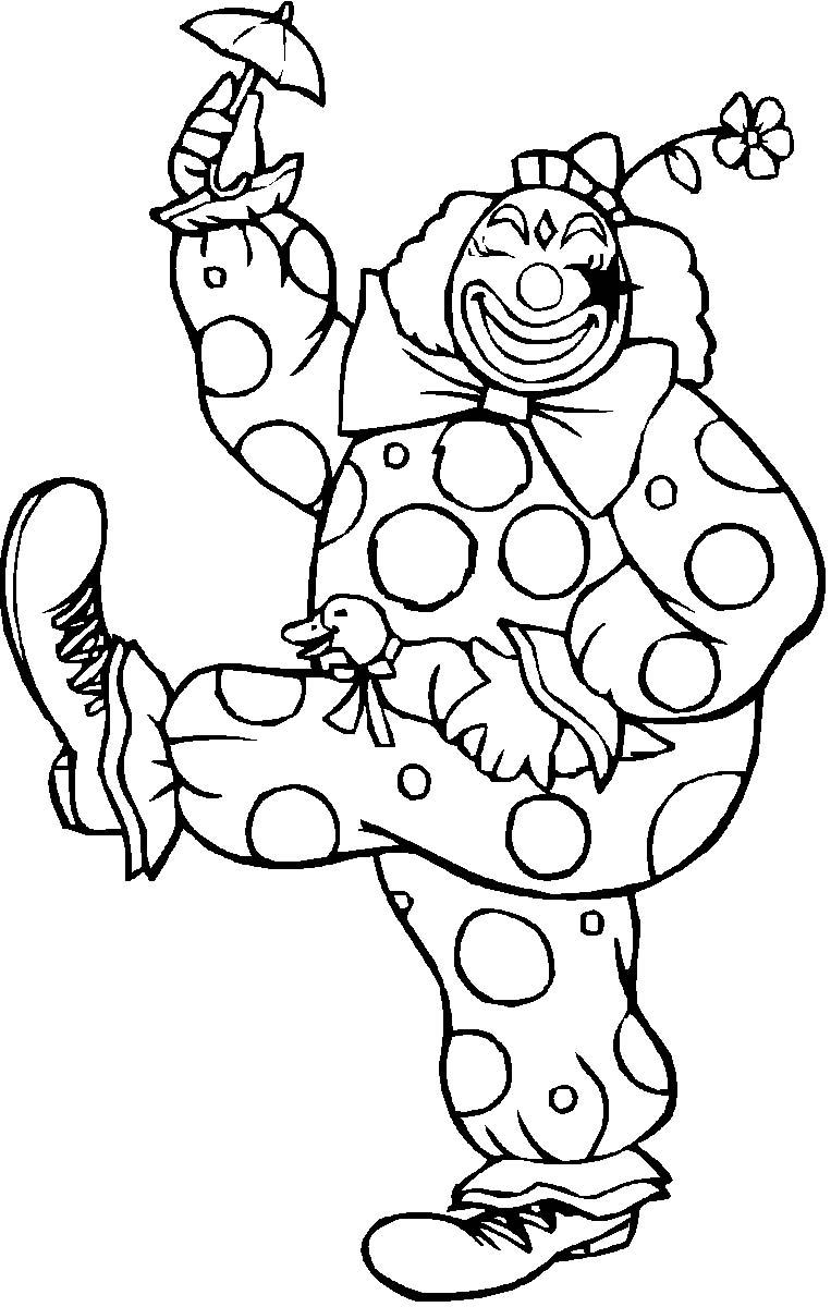 Pagliacci 4 disegni per bambini da colorare for Disegno pagliaccio da colorare