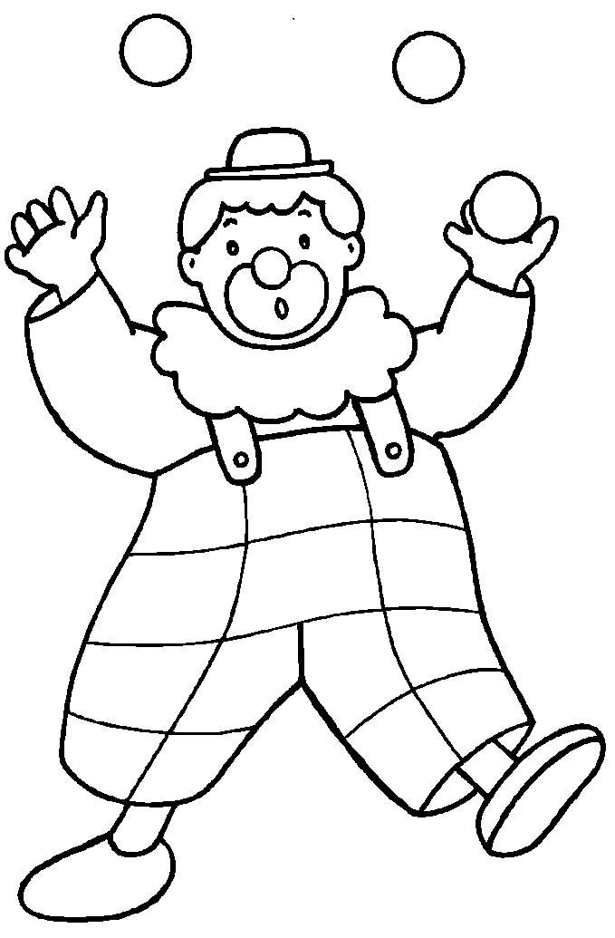 pagliacci 6 disegni per bambini da colorare