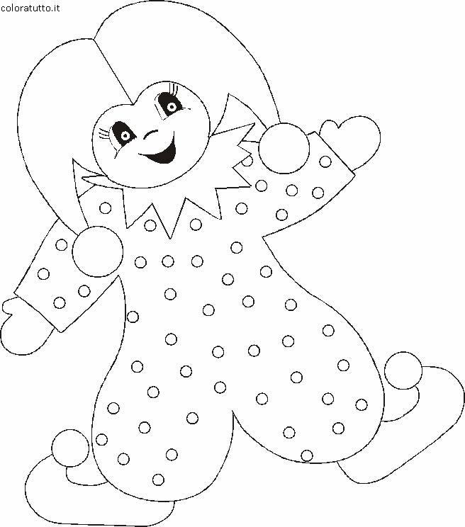 Pagliacci 2 disegni per bambini da colorare for Disegno pagliaccio da colorare