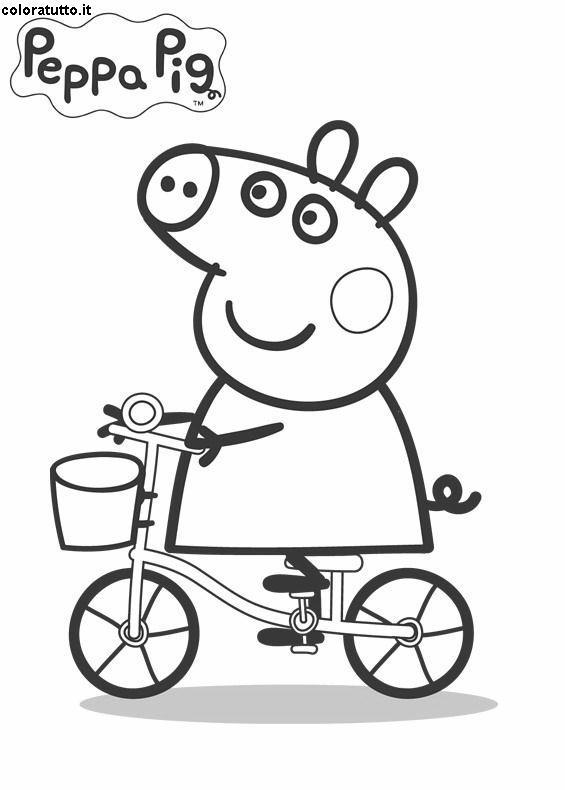Peppa pig 2 disegni per bambini da colorare for Peppa pig da colorare e stampare