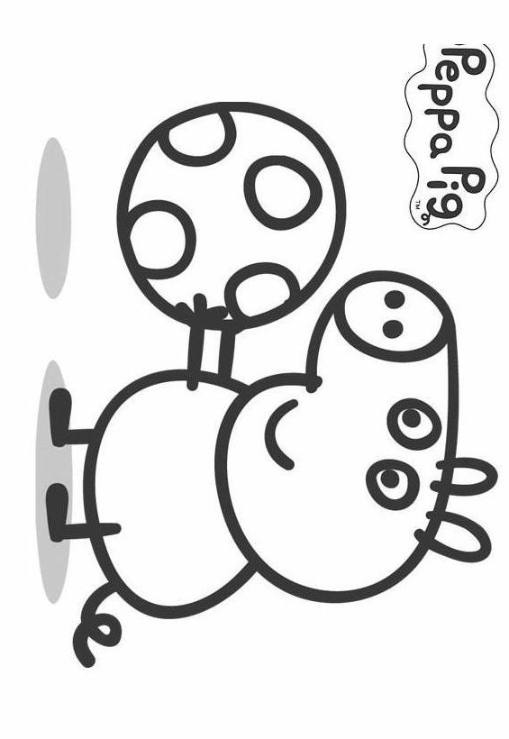 Peppa pig 4 disegni per bambini da colorare for Maschere di peppa pig da colorare