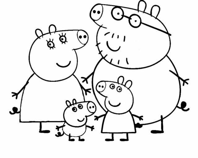 Peppa pig 5 disegni per bambini da colorare for Immagini peppa pig da colorare