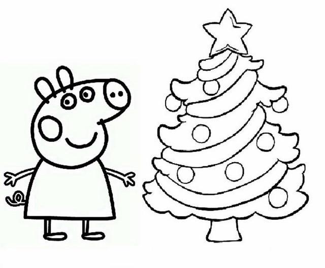 Peppa pig 6 disegni per bambini da colorare for Peppa da stampare
