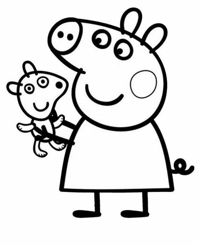 Peppa Pig 6, Disegni per bambini da colorare