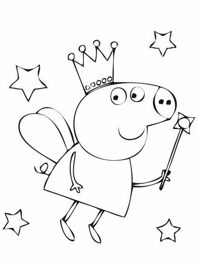 Peppa pig 7 disegni per bambini da colorare for Maschere di peppa pig da colorare