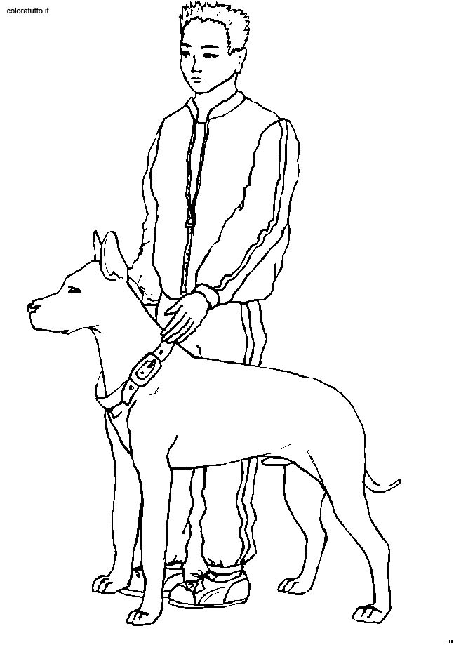 Persone con animali 9 disegni per bambini da colorare - Elfo immagini da stampare gratuitamente ...