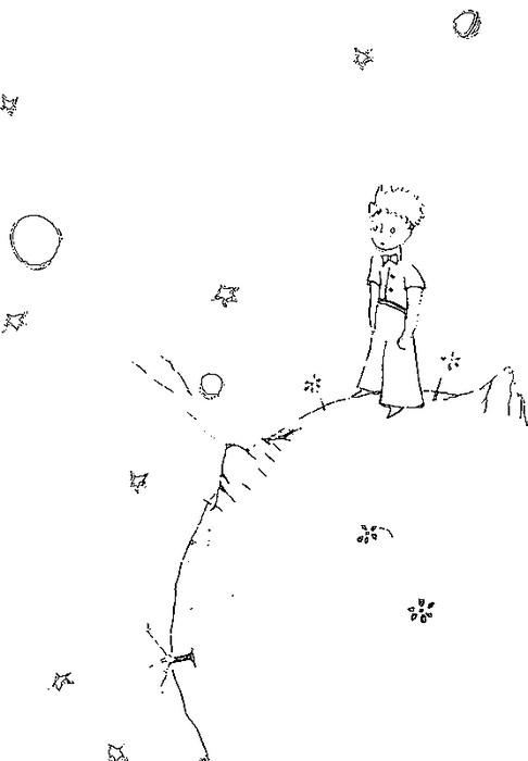 маленький принц раскраски для детей