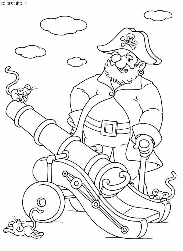 Pirati 2 disegni per bambini da colorare - Pirata immagini da colorare i pirati ...