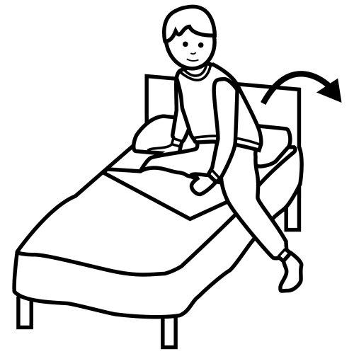 Pittogrammi 4 disegni per bambini da colorare - Triangolo per alzarsi dal letto ...
