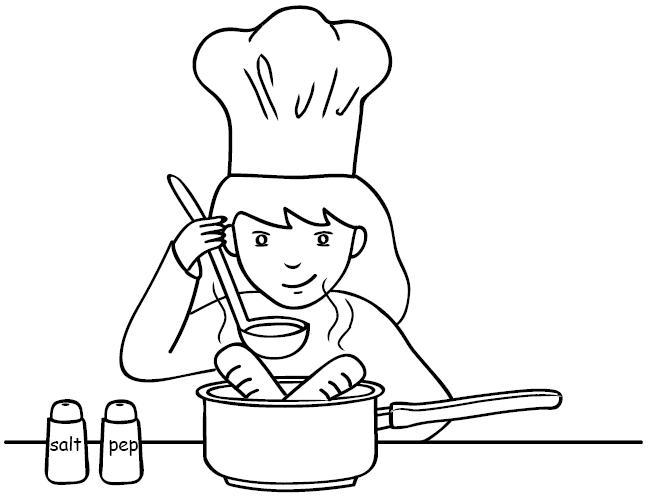 Pittogrammi 13 disegni per bambini da colorare for Cucinare da chef