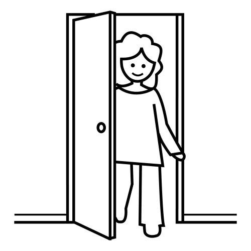 Pittogrammi 16 disegni per bambini da colorare - Entrare in una porta ...