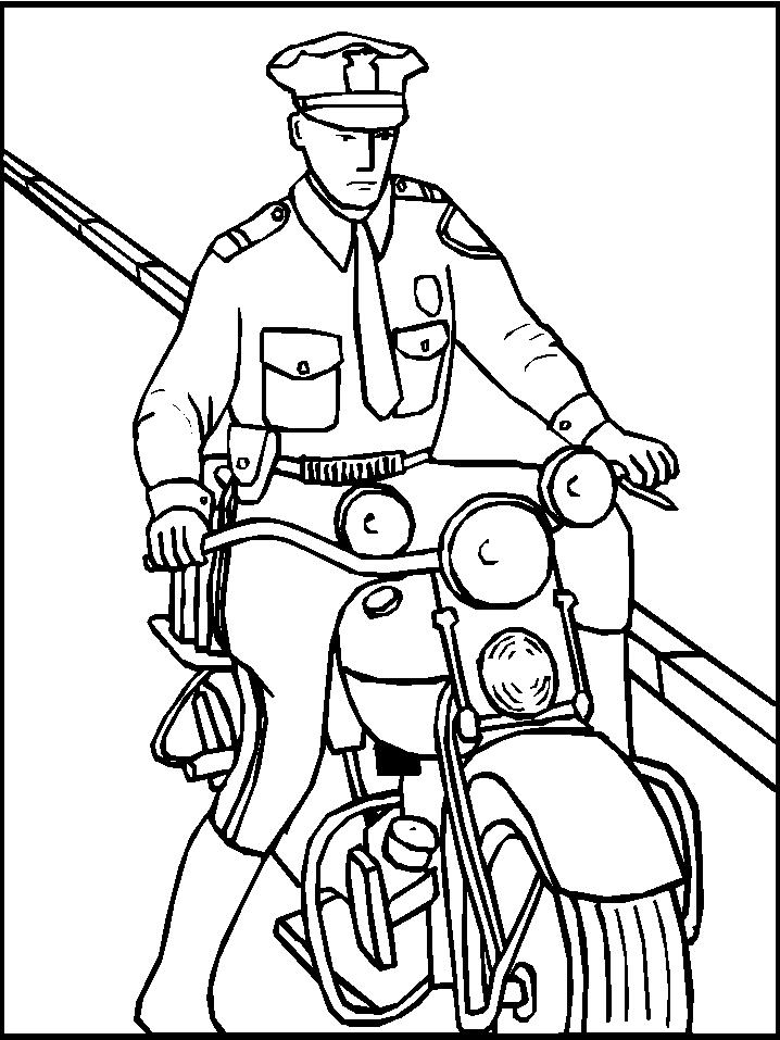 Polizia 2 disegni per bambini da colorare for Disegni base della cabina