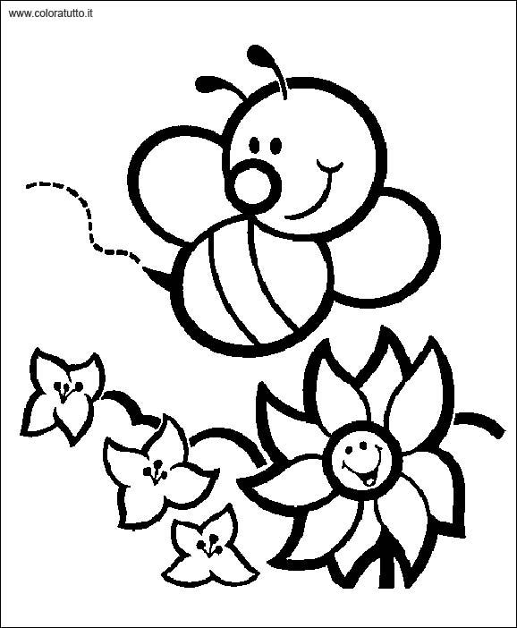 Primavera 2 disegni per bambini da colorare for Immagini sulla primavera da stampare e colorare