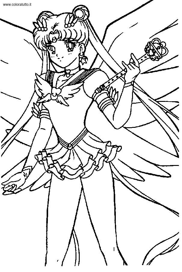 sailor moon 8 disegni per bambini da colorare