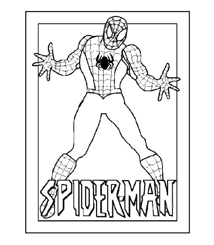 Spiderman 4 disegni per bambini da colorare for Disegni spiderman da colorare