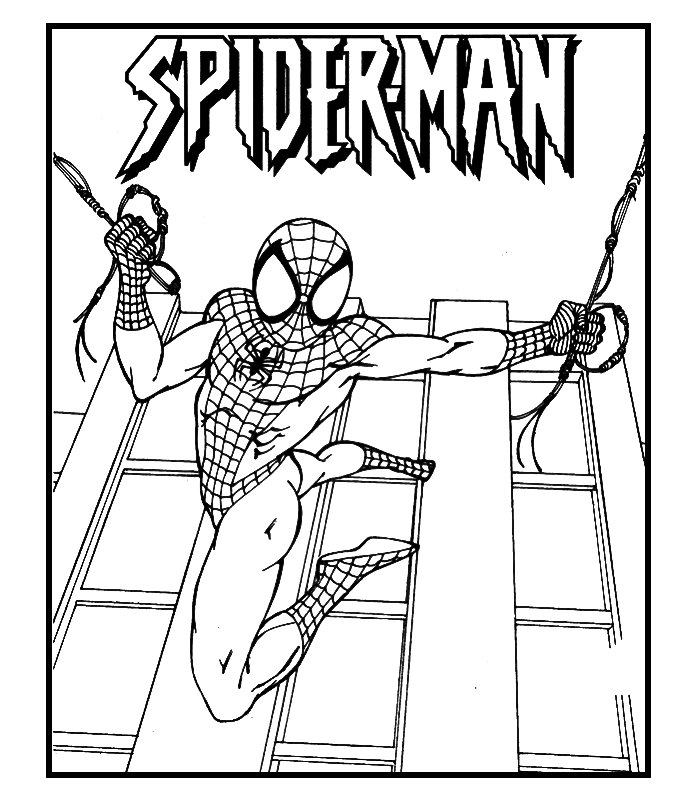 Spiderman 6 disegni per bambini da colorare for Spiderman da colorare per bambini