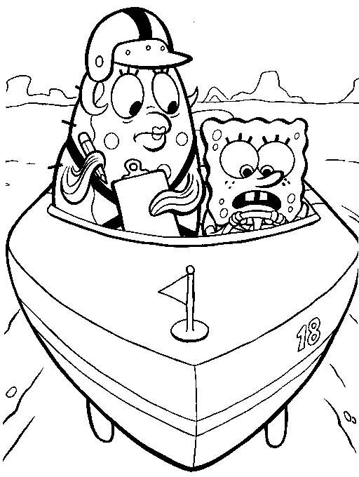 Spongebob 3 disegni per bambini da colorare for Disegni spongebob