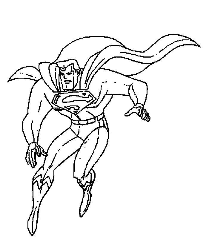 Superman 4 disegni per bambini da colorare - Elfo immagini da stampare gratuitamente ...