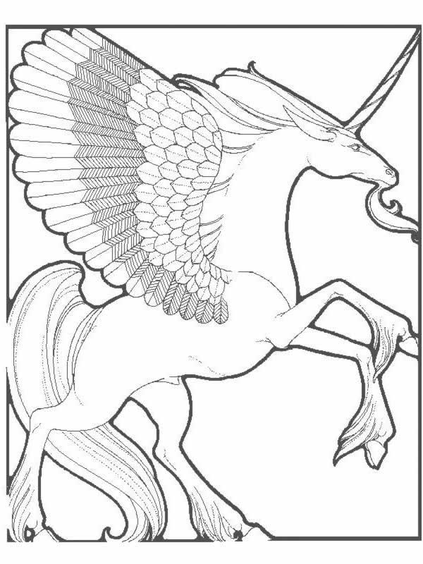 Unicorno 2 disegni per bambini da colorare - Coloriages licorne ...
