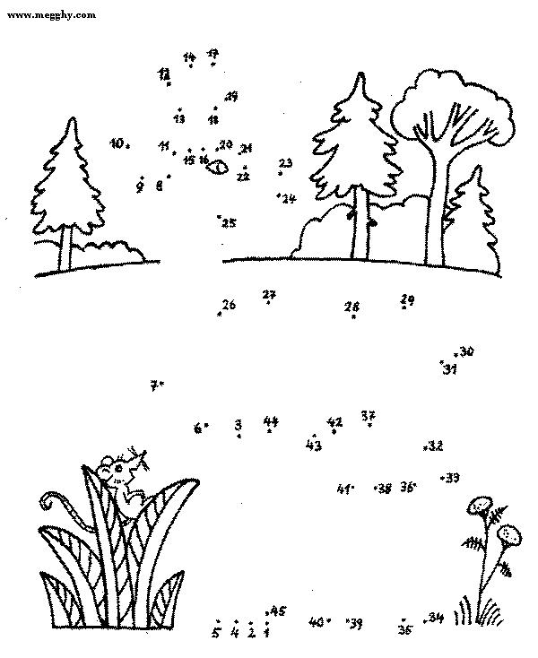Unisci e colora 32 disegni per bambini da colorare - Collegare i punti facilmente ...