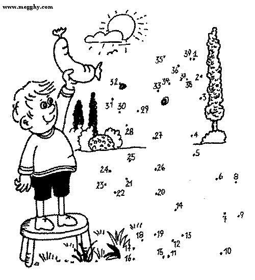 Unisci e colora 32 disegni per bambini da colorare - Unire i numeri dei punti ...
